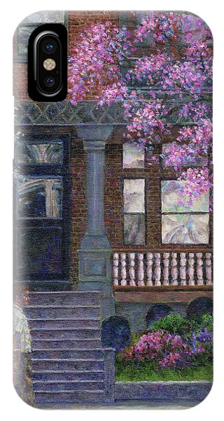 Philadelphia Street In Spring IPhone Case