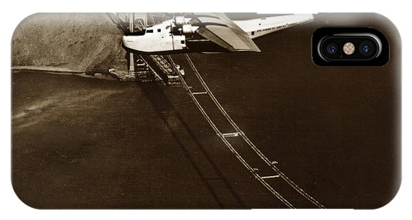 Philippine Clipper A Pan Am Clipper Over The Golden Gate Bridge  1935 IPhone Case