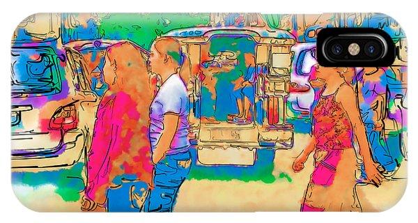 Philippine Girls Crossing Street IPhone Case