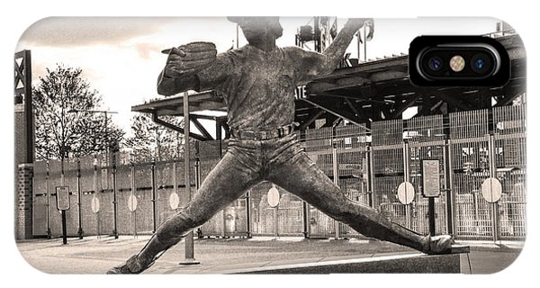 Phillies Hall Of Famer Steve Carlton In Sepia IPhone Case