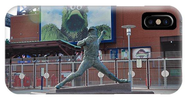 Phillies Steve Carlton Statue IPhone Case