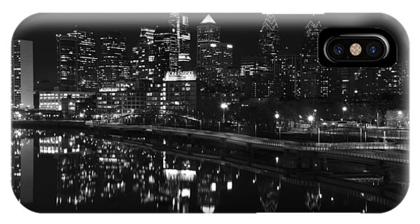 Philly And The Schuylkill Bw IPhone Case