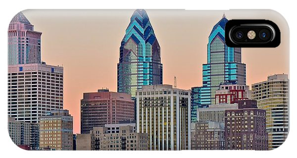 Philadelphia Phillies Stadium iPhone Case - Philly At Sunset by Frozen in Time Fine Art Photography
