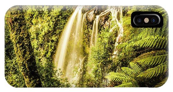 Greenery iPhone Case - Philosopher Falls, Western Tasmania by Jorgo Photography - Wall Art Gallery