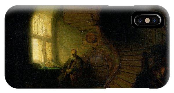 Philosopher In Meditation IPhone Case