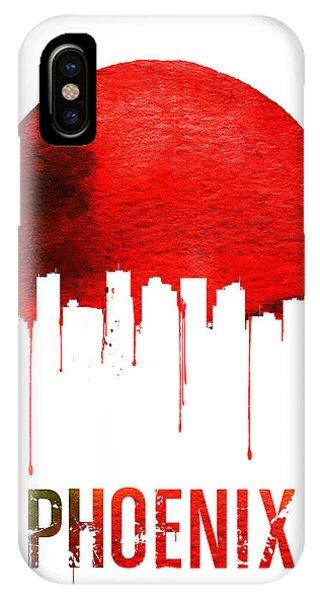 Phoenix iPhone Case - Phoenix Skyline Red by Naxart Studio