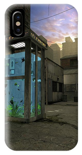 Rendering iPhone Case - Phone Booth by Cynthia Decker