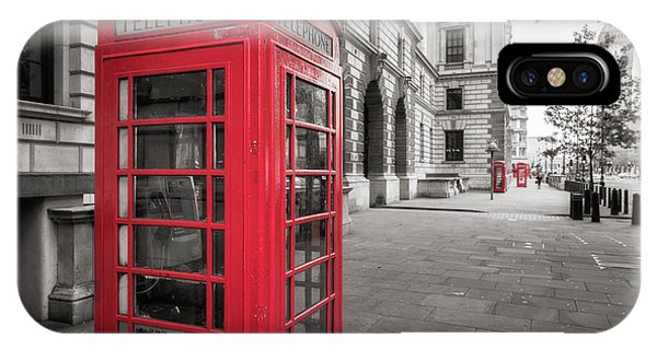 Phone Booths In London IPhone Case