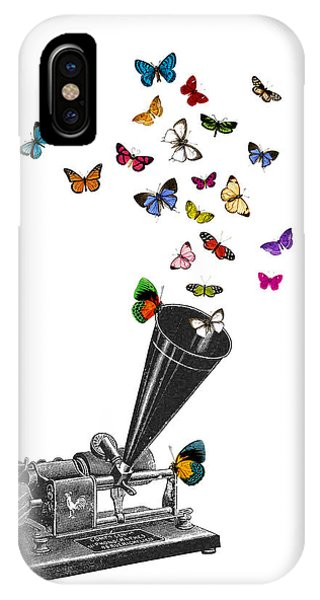 Players iPhone Case - Phonograph And Butterflies Print by Madame Memento