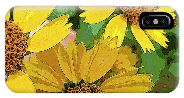 Yellow Wildflowers Photograph II IPhone Case