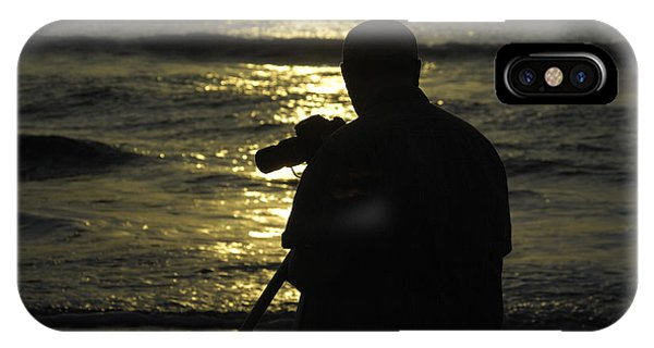 Photographer And Atlantic Ocean Sunrise Phone Case by Darrell Young