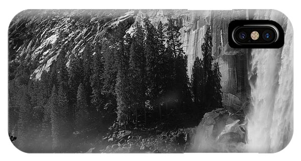 Photographer At Vernal Falls IPhone Case