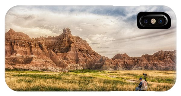 Photographer Waiting For The Badlands Light IPhone Case