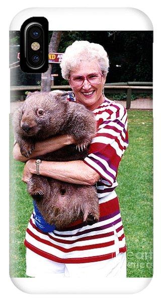 Phyllis Holding Thirty Lb Wombat Australia IPhone Case