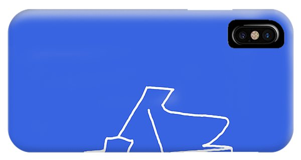 Piano In Blue IPhone Case
