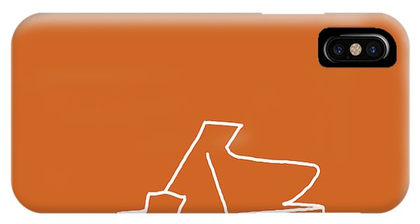 Piano In Orange IPhone Case