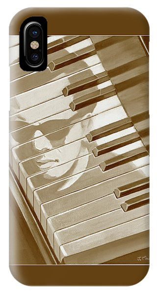 Piano Man In Sepia IPhone Case