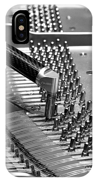 Piano Tuning Bw IPhone Case