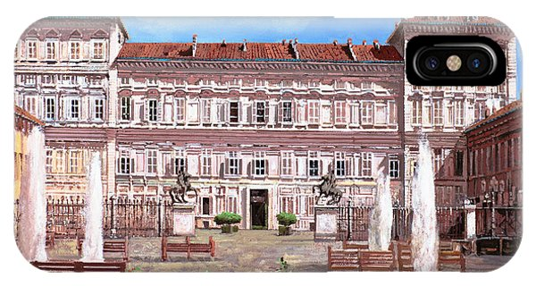 Palace iPhone Case - piazza Castello by Guido Borelli