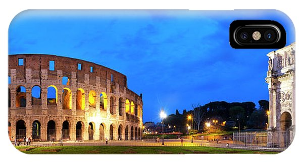 IPhone Case featuring the photograph Piazza Del Colosseo by Fabrizio Troiani