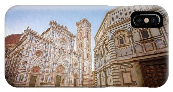 Piazza Del Duomo Florence Italy IPhone Case