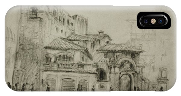Cities iPhone Case - Piazza Fiume Rome by Ylli Haruni