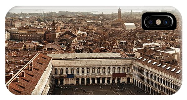 IPhone Case featuring the photograph Piazza San Marco Bell Tower Panorama View by Songquan Deng