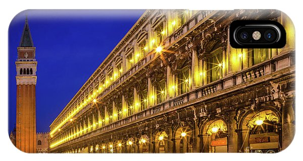 Piazza San Marco By Night IPhone Case