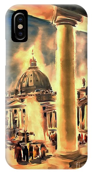 Piazza San Pietro In Roma Italy IPhone Case