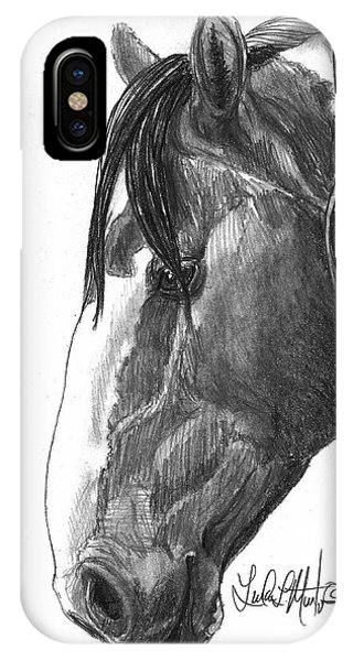 IPhone Case featuring the drawing Picasso by Linda L Martin