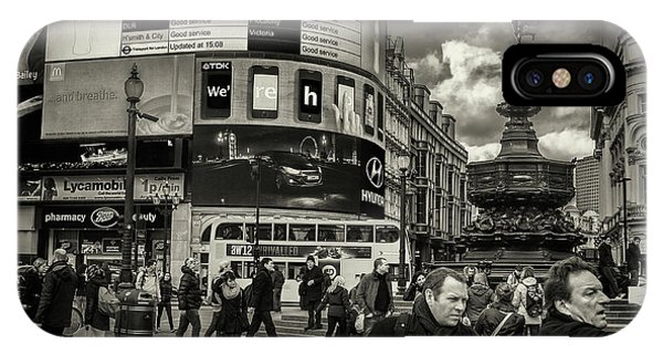 IPhone Case featuring the photograph Piccadilly  by Stewart Marsden