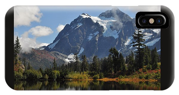 Picture Lake And Mount Shuksan IPhone Case