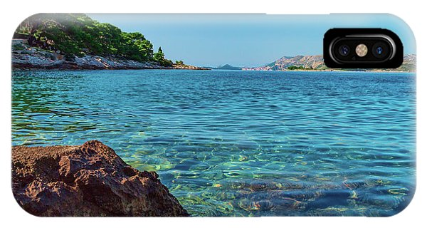 Picturesque Croatia Offers Tourists Pristine Beaches Of The Adriatic, Surrounded By Pine Trees And R IPhone Case