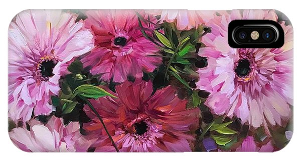 iPhone Case - Pieces Of Heaven Pink Daisies by Nancy Medina