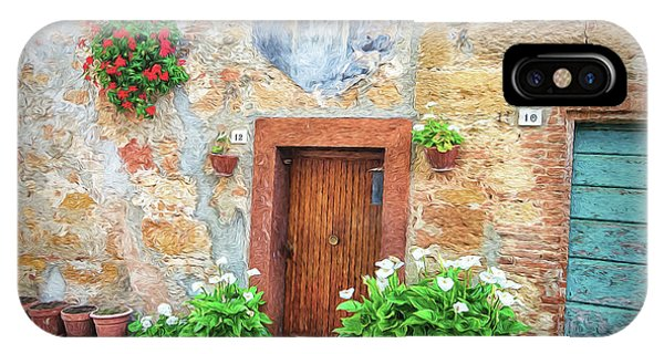 Pienza Street Scene IPhone Case
