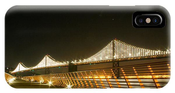 Pier 14 And Bay Bridge Lights IPhone Case