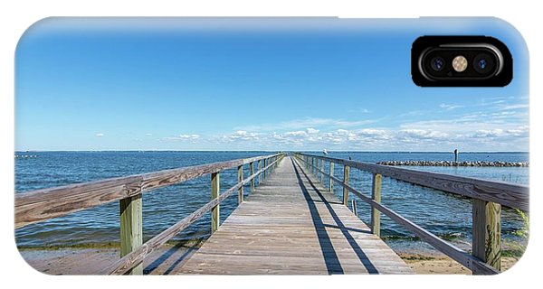 Pier At Highland Beach IPhone Case