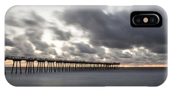 Pier In Misty Waters IPhone Case