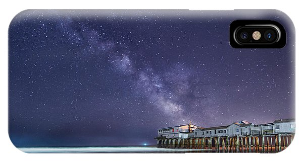 Orchard Beach iPhone Case - Pier In The Stars by Michael Blanchette