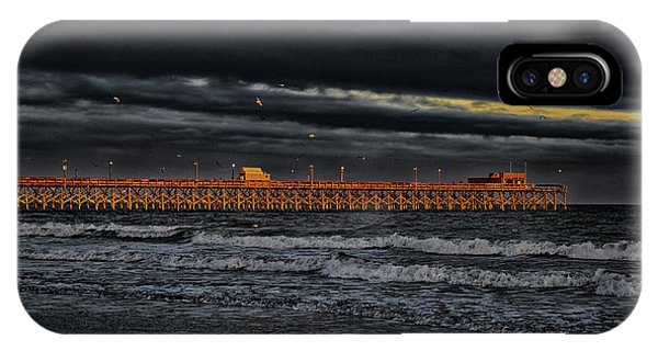 IPhone Case featuring the photograph Pier Into Darkness by Kelly Reber