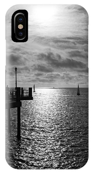 IPhone Case featuring the photograph Pier Into The Sun by Michael Hope