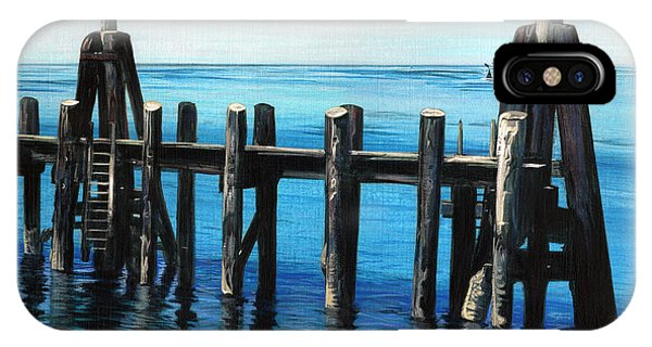 IPhone Case featuring the painting Pier by Jason Girard
