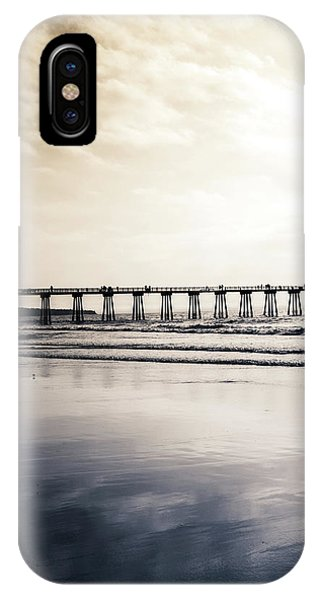 IPhone Case featuring the photograph Pier On Duotone by Michael Hope