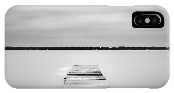 IPhone Case featuring the photograph Pier Sinking Into The Water by Todd Aaron