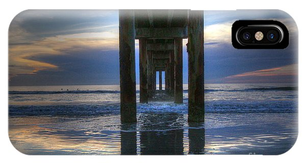 Pier View At Dawn IPhone Case