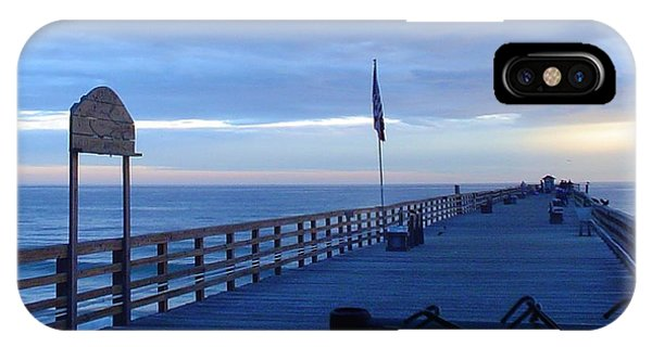 Pier View At Sunrise IPhone Case