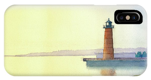 Pierhead Lighthouse, Milwaukee IPhone Case