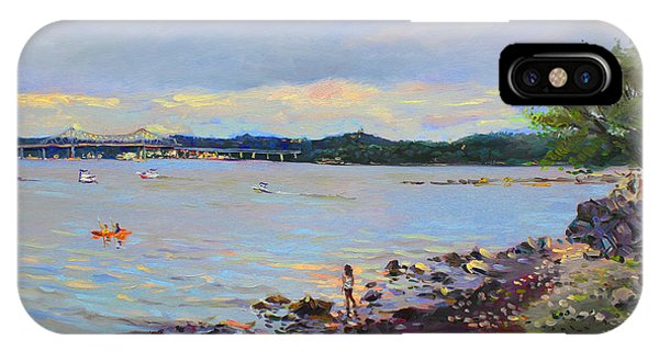 Hudson River iPhone Case - Piermont Shore Ny by Ylli Haruni