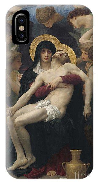 Angels iPhone Case - Pieta by William-Adolphe Bouguereau