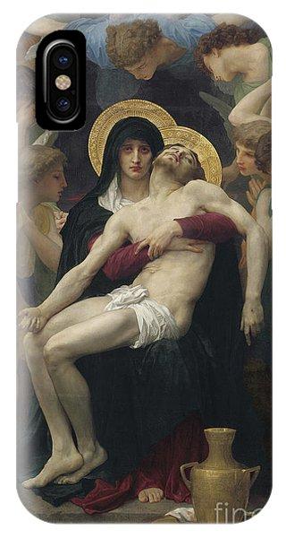 Savior iPhone Case - Pieta by William Adolphe Bouguereau